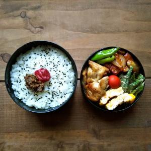鶏肉塩胡椒ガーリック炒め弁当