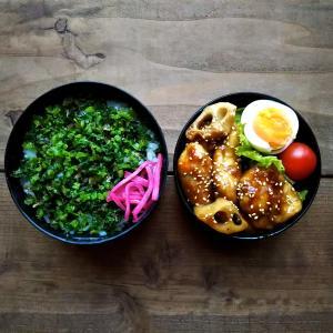 甘辛チキンとテフロン加工の鍋