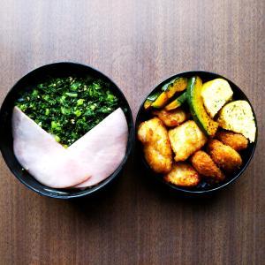大根菜のふりかけと揚げ物弁当