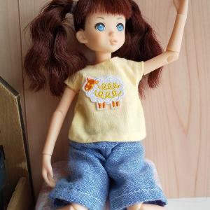 ルルコのTシャツと福ちゃんのTシャツ