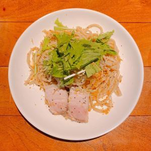 殿堂入りのお皿たち その646【上北沢の、とあるカフェさん の 二郎系の麺を使ったパスタ】