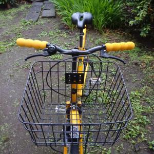 黄色い自転車の黄色いグリップ