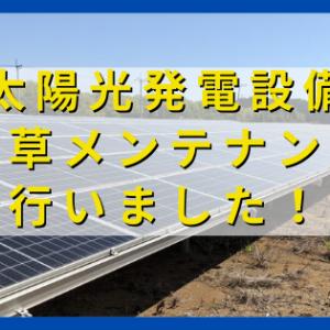 太陽光発電設備の除草メンテナンスを行いました!