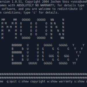Moon-buggy: Linux ターミナルで月面を走破せよ