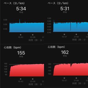 ジョグ10km / スイム1km