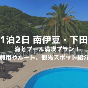 1泊2日で南伊豆と下田旅行!海とプールを贅沢に楽しむコース!