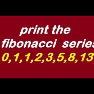How to print fibonacci series in php