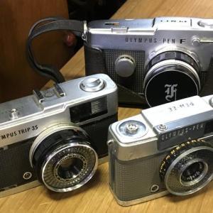 オリンパスのカメラ PENとTRIP35