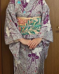 菖蒲の着物で菖蒲園へ