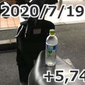 「週給5万円突破!」+5,749円(2020/07/19 UberEats配達日報)