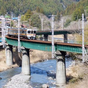 JR飯田線 渡らずの鉄橋(第6水窪川橋梁)