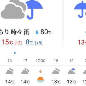 今、雨降ってんだけど、