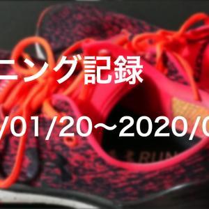 ランニング記録 2020/01/20〜2020/01/26