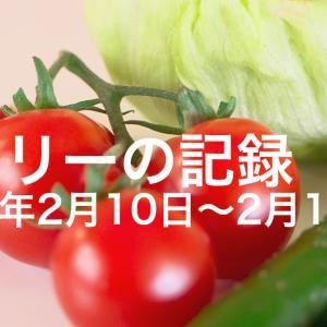 食事の記録 2020/02/10〜2020/02/16