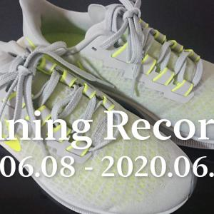 ランニング記録 2020/06/08〜2020/06/14