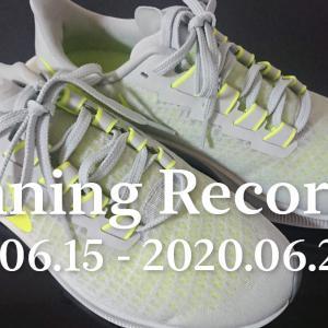 ランニング記録 2020/06/15〜2020/06/21