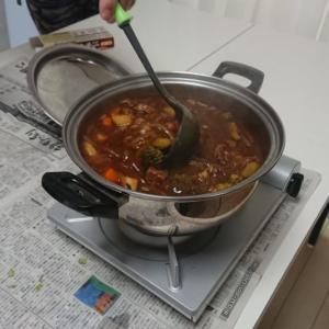 調理実習でビーフシチューを作りました
