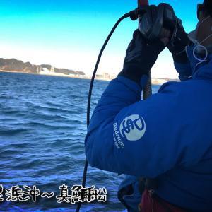 久里浜沖で極寒の真鯛仕立てで海釣り初め