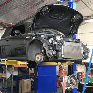 【車】BMW Mini 2007 Cooper S Cabrio R52 ② まさかのクラッチハウジング大破損。。。お~ベイビ~(泣)