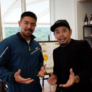 カヌースプリントの日本代表、當銘孝仁選手。