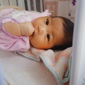 生後2ヶ月ちょっとのセイラの成長