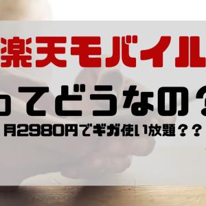 【4月8日開始】楽天モバイルってどうなの?-月2980円でギガ使い放題の格安プラン-