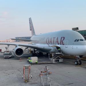 パリ🇫🇷カタール航空 QR039便 ドーハからパリへ