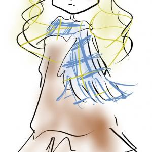 裾フレアがかわいいワンピースコーデ|ニットでやわらかイメージ&お腹カバーシルエット