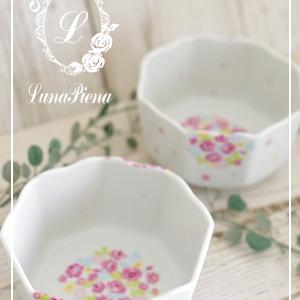 愛らしい小花柄の和食器