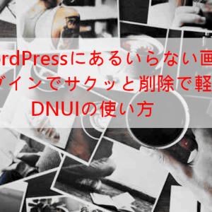 WordPressプラグインDNUIでいらない画像を削除する方法と使い方
