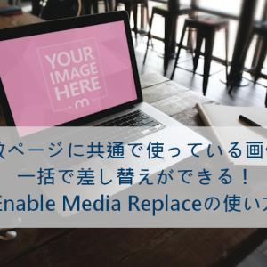 複数ページにある画像を更新日を変えずに差し替えるEnable Media Replaceの使い方