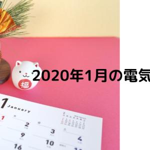 平屋の2020年1月電気代まとめ【4LDK・オール電化・東京電力】