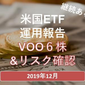 運用報告2019年12月 VOOを6株購入&リスクの再確認