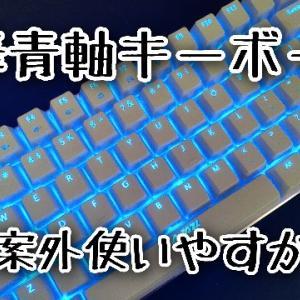 怪しいテンキーレス青軸キーボード購入!