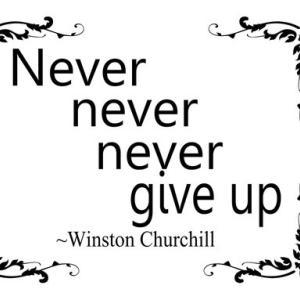 決して屈するな。 決して、決して、決して!