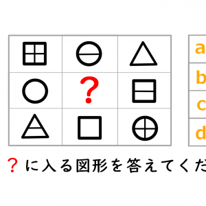 【IQテスト】4択の中から選んでください。