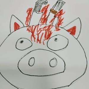 転職   肉屋を応援する豚