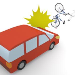 自転車に乗った女子高生を車で・・・
