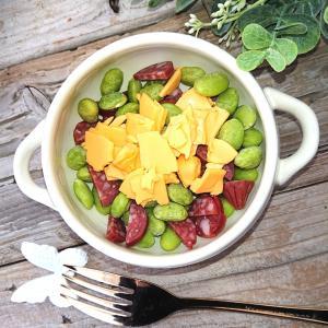 サラミと枝豆とチーズのおつまみ(子供もくせになるおつまみ)