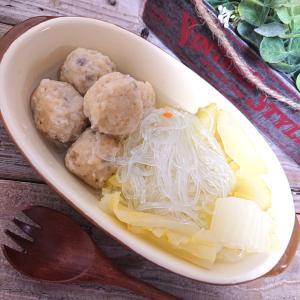 白菜とセロリと春雨と鶏団子スープ