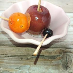 りんご飴、ブルーベリー飴、プチトマト飴