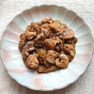 鶏ももとなすのトロ~り甘辛炒め(鶏肉、鶏もも肉)
