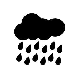予報通りの天気😏2020年8月7日(金曜日)