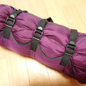 【レビュー】oxtos(オクトス)のコンプレッションバッグでシュラフを細長く圧縮しろ!