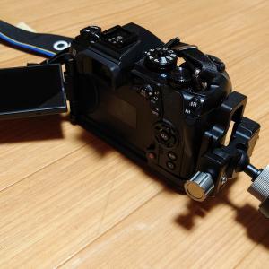 【誰得情報】E-M1 Mark2用アルカスイス互換のL型プレートをグリップ側に付ける加工をしたよ