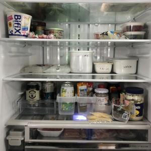 まとめ買いの日の冷蔵庫のチェック。