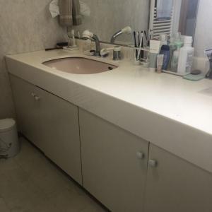 洗面所にあるストック品の収納の見直し。