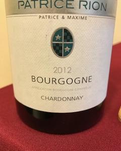 パトリス・リオンのブルゴーニュ・シャルドネ 白ワインも高品質