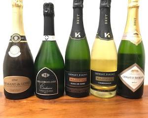 スパークリングワインのおすすめセット『クレマン5本セット』
