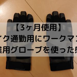【3ヶ月使用】バイク通勤にワークマンの作業用グローブを使った感想